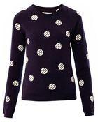 Chinti & Parker Polka-dot Cashmere Sweater - Lyst