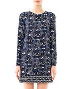Kenzo Temple Eyesprint Dress - Lyst