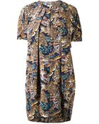 Kenzo Pleated Dress - Lyst