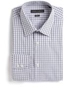 Vince Camuto Checked Cotton Dress Shirt - Lyst