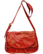 Lucky Brand Savannah Embroidered Leather Shoulder Bag - Lyst
