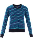 Marc By Marc Jacobs Luna Jacquard Wool Sweater - Lyst