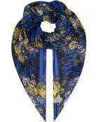 McQ by Alexander McQueen Tigerprint Floral Scarf - Lyst