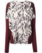 Schumacher Leopard Print Sweater - Lyst