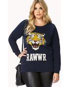 Forever 21 Tiger Eyes Raglan Sweatshirt - Lyst