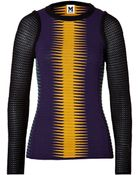 M Missoni Wool Blend Multi Color Patterned Pullover - Lyst