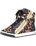 Michael Kors Michael Glam Leopard print Hitop - Lyst