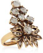 Oscar de la Renta Goldplated Swarovski Crystal Ring - Lyst