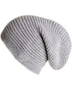 Black.co.uk Light Grey Cashmere Slouch Beanie Hat - Lyst