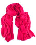 Black.co.uk Raspberry Pink Handwoven Shawl - 100% Cashmere - Lyst