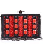Jason Wu Bead Embellished Satin Box Clutch - Lyst