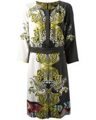 Etro Printed Shift Dress - Lyst