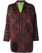 M Missoni Striped Jacket - Lyst