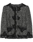 Dolce & Gabbana Lace-appliquéd Bouclé Jacket - Lyst