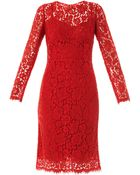 Dolce & Gabbana Lace Long Sleeved Dress - Lyst