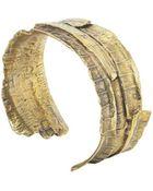 Linda Friedrich Jewelry Bark Bronze Cuff Bracelet - Lyst