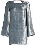 Missoni Velvet Backless Dress In Silver Grey - Lyst