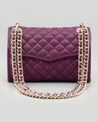 Rebecca Minkoff Quilted Affair Mini Shoulder Bag Plum - Lyst