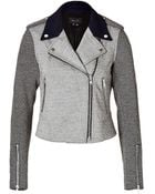 Theory Cotton Blend Jacket In Black/White - Lyst