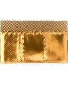 Bottega Veneta Snakeskin Clutch Bag - Lyst