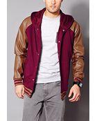 21men Easy Varsity Jacket - Lyst