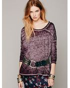 Free People Supersoft Washed Pullover - Lyst
