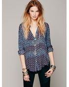 Free People Fp One Mixed Translation Shirt - Lyst