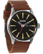 Nixon The Sentry Leather Watch - Lyst