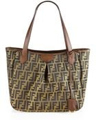Fendi Zucca Large Pleated Tote - Lyst