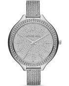 Michael Kors Midsize Slim Runway Glitz Watch 43mm - Lyst
