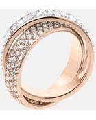 MICHAEL Michael Kors Michael Kors Brilliance Crystal Intertwined Ring - Lyst