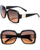 Tory Burch Large Medallion Glam Sunglasses - Lyst