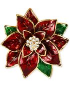 Jones New York Gold-Tone Poinsettia Pin - Lyst