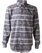 Naked & Famous Brushed Native Print Shirt - Lyst