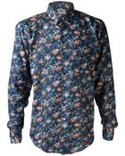 Naked & Famous Tropical Print Shirt - Lyst