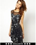 2nd Day Exclusive For Asos Neva Sequinned Dress With Sheer Panelling - Lyst