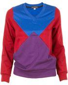 Ostwald Helgason Color Block Sweatshirt - Lyst