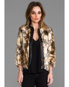 Twelfth Street Cynthia Vincent Talitha Leather Placket Fur Chubby in Brown - Lyst