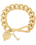 Lauren by Ralph Lauren Chain-Link Charm Bracelet - Lyst