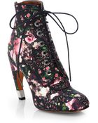 Givenchy Rose Camouflageprint Leather Sandals - Lyst