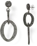 Roni Blanshay Crystal Open Link Drop Earrings - Lyst