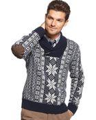 Tommy Hilfiger Benson Shawl Collar Sweater - Lyst