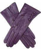 Dents Buttoned Silklined Leather Gloves - Lyst