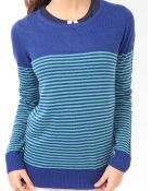Forever 21 Colorblocked Striped Sweater - Lyst