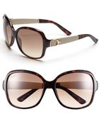 Gucci 58mm Oversized Sunglasses - Lyst
