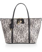 Dolce & Gabbana Miss Sicily Lace Print Tote - Lyst