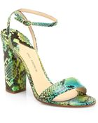 Paul Andrew Calla Multicolor Python Sandals - Lyst