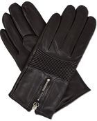The Kooples Bikerstyle Leather Gloves - Lyst