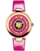 Versace Mystique Foulard Round Rose Gold Pvd Watch, 38Mm - Lyst