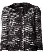 Dolce & Gabbana Tweed Crew Neck Jacket - Lyst